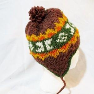 SHRED ECUADOR Wool Knit Ear Flap HAT Cap Beanie
